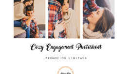Cozy engagement photoshoot