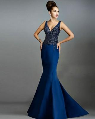 Maquillaje de noche 2019 para vestido azul marino